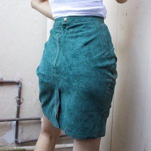 Vintage 188 West 100% Leather Pencil Skirt